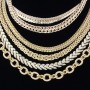 Chains, gold, silver, platinum, diamonds, omega  3