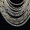 Chains, gold, silver, platinum, diamonds, omega  6